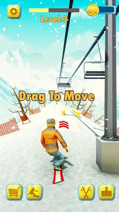 滑雪激斗赛游戏安卓版截图1