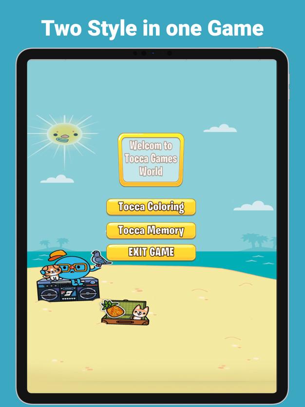 托卡海滩比赛着色游戏v1.1截图1
